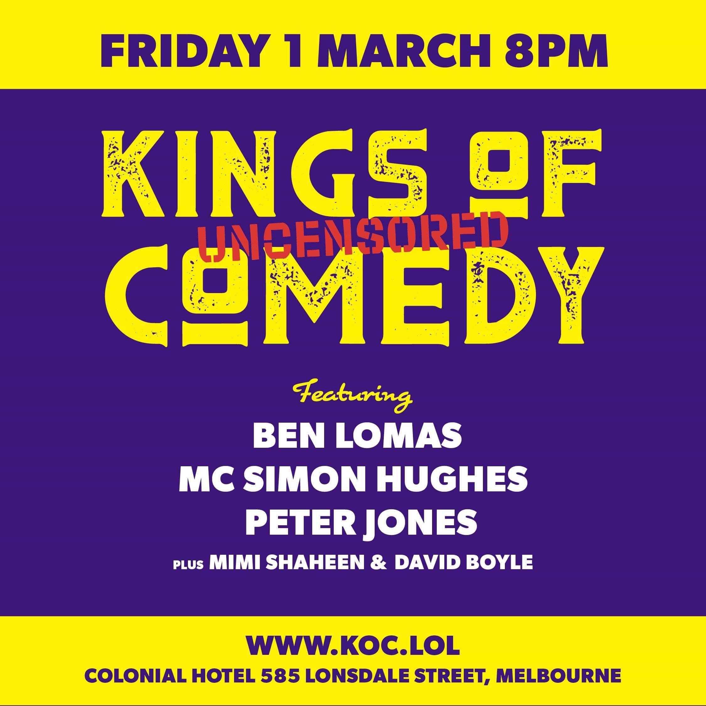 Ben Lomas - Kings of Comedy